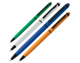 Metal ball pen with touch function